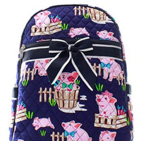 Piglet Quilted Backpack - 2 Color Choices
