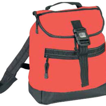 Reflector BackPack w/ Leather-Like Bottom - Red