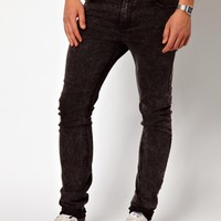 Cheap Monday Jeans Tight Skinny Fit in Washed Black at asos.com