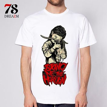 male T-Shirt music Band Oliver Sykes T Shirt Men tops tees