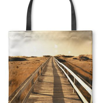OFF TO THE BEACH Tote Bag By Bomo Bob