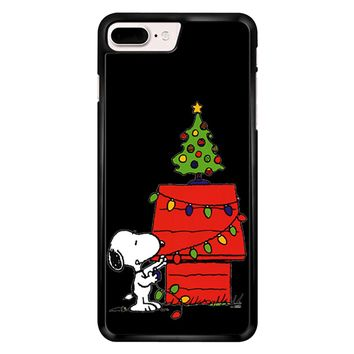 Snoopy And Christmas Tree - Black iPhone 7 Plus Case
