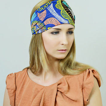 Free People Head Scarf Adult Headband Headband Hair Band Tribal Viscose