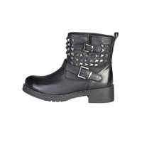 Ana Lublin Black Studded Ankle Boots