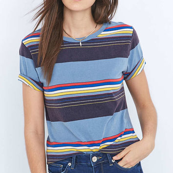 BDG Vintage Blue Striped T-shirt - Urban Outfitters