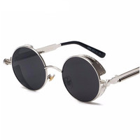 Retro Round Sunglasses Steampunk Metal Frame Vintage Dreamer Sunglasses