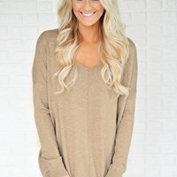 Hold On To Me Sweater ~ Mocha