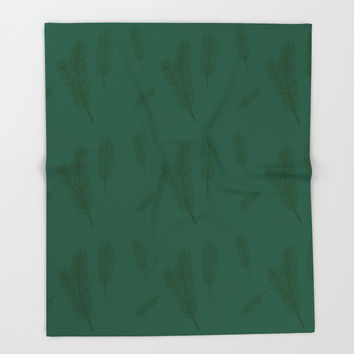 Pine Forest Throw Blanket by carmenrayanderson