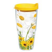 Tervis White Daisies 24-oz. Tumbler (Yellow)