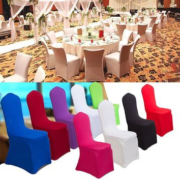 Universal Chair Covers Stretch Polyester Spandex for Party Weddings Banquet Hotel Decoration Decor