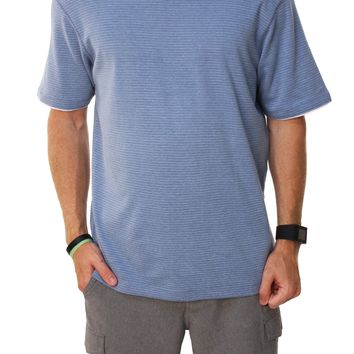 Method By RetroFit Men's Woven Short Sleeve V-Neck Casual Shirt