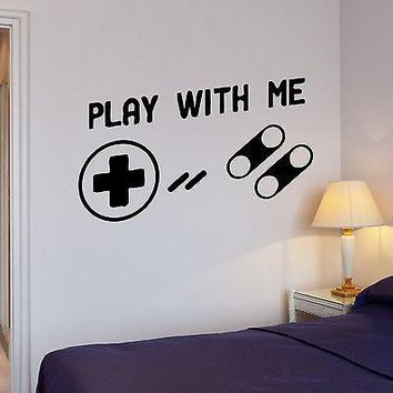 Wall Stickers Joystick Xbox Video Games Play Game Kids Room Vinyl Decal (ig1695)