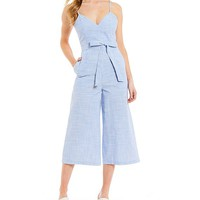 Gianni Bini Mo Striped Tie-Waist Jumpsuit | Dillard's
