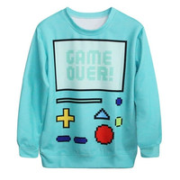 Fashion Women's Gamer Print Cute Sweatshirt Hoody Spring Autumn Pullover Streetwear = 1931515588