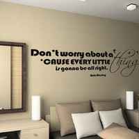 Vinyl Wall Decal - Bob Marley Everything is gonna be alright Handmade Art Mural for Children W0105