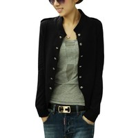 Women Double Breasted Long Sleeve Autumn Blazer Coat