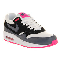 Nike Air Max 1 (l) White Dark Army Blue Pink - Hers trainers