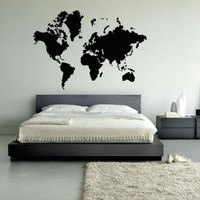 Wall Decal Decor Decals Art Map World Room Bedroom Design Mural Country (M961)
