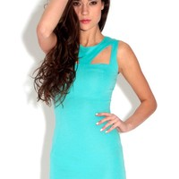 Pammi Turquoise Cut Out Bodycon Dress