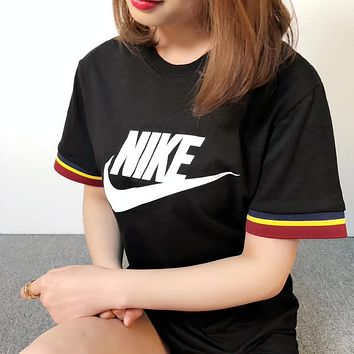 NIKE Couple short sleeved T - shirts