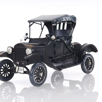 Black Ford Model T Hancrafted Automobile Models