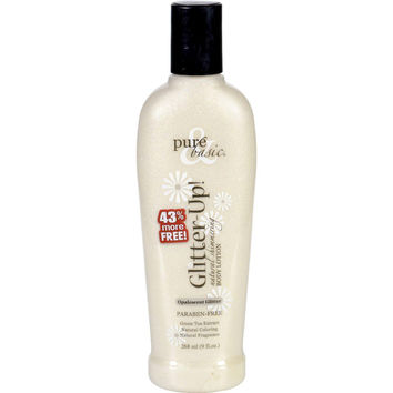 Pure And Basic Body Lotion - Glitter Up - Opalescent Glitter - 9 Oz