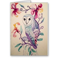 Owl (blank inside) Card