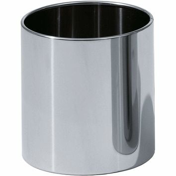 DW 105 Round Open Top Trash Can, Stainless Steel Wastebasket W/O Lid Cover