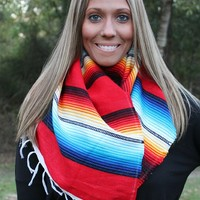 Red Serape Scarf