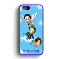 Supernatural Chibi Funny iPhone 5 Case Available for iPhone 5 Case iPhone 5s Case iPhone 5c Case iPhone 4 Case