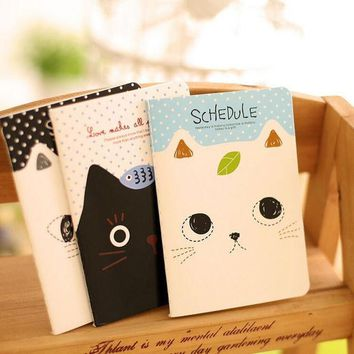 DCCKL72 1 Piece New Korean Stationery  Planner Agenda Notepad Office School Creative Cartoon Cat Style Filofax Notebook Diary Students