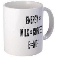 Energy Milk Coffee Mugs> E=MC2 Coffee> Sheldon To Mr Darcy Art by Alice Flynn