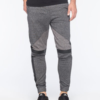 Crash Marled Block Mens Jogger Pants Black/Grey  In Sizes
