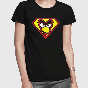 Angry Bird Half Sleeves Women T-shirt