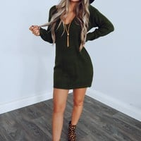 Can't Get Enough Dress: Olive