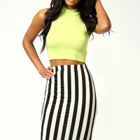 Aubrey Monochrome Disco Skirt