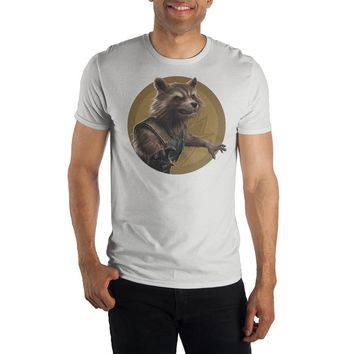 Mens Rocket Raccoon TShirt Short Sleeve Mens Avengers Tshirt