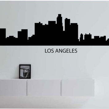Los Angeles California Skyline City LARGE Vinyl Wall Decal Sticker Art Decor Bedroom Design Mural City modern