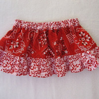 Bandanna Red Twirl Skirt for Baby or Toddler