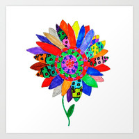 Mandala flower Veta Art Print by Azima