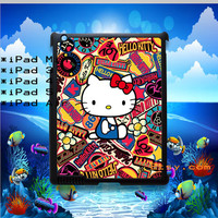 Hello Kitty Collage Personalized Covers for iPad Mini, ipad 2, ipad 3, iPad 4 and iPad Air