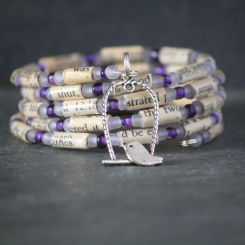 I Know Why the Caged Bird Sings Charm Bracelet