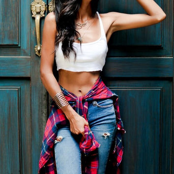 Grunge Crop Top Cut Off Tank Tops, All Sizes & Colors