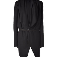 Helmut Lang - Wool Belted Cardigan in Black