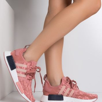 adidas Women's NMD R1 Primeknit Sneakers in Pink Pink Ink