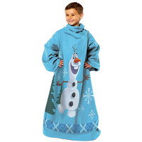 Frozen - Made of Snow (Olaf)  Youth Comfy Throw Blanket w-Sleeves