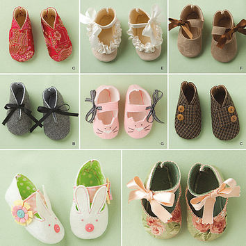 Baby Shoe Pattern, New Simplicity 1710, First Walkers, Kimono Shoes, Baby Slippers, Baby Shoes