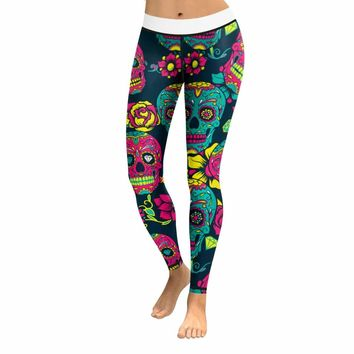 Skull Leggings & Yoga Pants High Quality Style 1