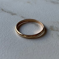Gold Half Round Band Ring