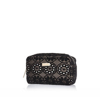 River Island Womens Black lace make up bag
